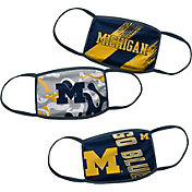 Outerstuff Boys' Michigan Wolverines 3-Pack Face Coverings