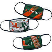 Outerstuff Boys' Miami Hurricanes 3-Pack Face Coverings