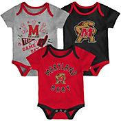 Gen2 Infant Maryland Terrapins Red Champ 3-Piece Onesie Set