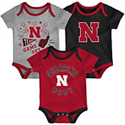 Gen2 Infant Nebraska Cornhuskers Scarlet Champ 3-Piece Onesie Set
