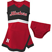 Gen2 Youth Girls' Nebraska Cornhuskers Scarlet Cheer Captain 2-Piece Jumper Dress