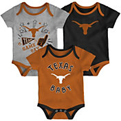 Gen2 Infant Texas Longhorns Burnt Orange Champ 3-Piece Onesie Set