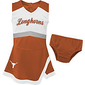 Gen2 Youth Girls' Texas Longhorns Burnt Orange Cheer Captain 2-Piece Jumper Dress