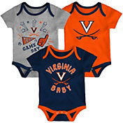 Gen2 Infant Virginia Cavaliers Blue Champ 3-Piece Onesie Set