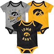 Gen2 Infant Iowa Hawkeyes Champ 3-Piece Onesie Black Set