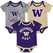Gen2 Infant Washington Huskies Purple Champ 3-Piece Onesie Set