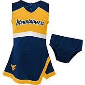 Gen2 Youth Girls' West Virginia Mountaineers Blue Cheer Captain 2-Piece Jumper Dress