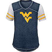 Gen2 Youth Girls' West Virginia Mountaineers Blue Football School Spirit T-Shirt