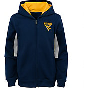 Outerstuff Youth West Virginia Mountaineers Performance Long Sleeve Navy Full-Zip Jacket