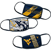 Outerstuff Boys' West Virginia Mountaineers 3-Pack Face Coverings