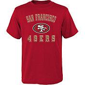 NFL Team Apparel Boys' San Francisco 49ers Bevel Red T-Shirt