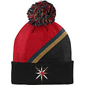 NHL Youth Las Vegas Golden Knights Special Edition Diagonal Stripe Red Pom Knit