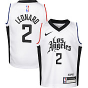 Nike Boys Los Angeles Clippers Kawhi Leonard #2 White Dri-FIT Swingman Jersey