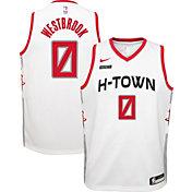 Nike Youth Houston Rockets Russell Westbrook #0 White Dri-FIT Swingman Jersey