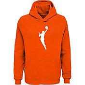 WNBA Youth Primary Logo Orange Pullover Hoodie