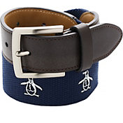 Original Penguin Men's Printed Web Golf Belt