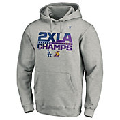 MLB Men's Los Angeles Dodgers x Los Angeles Lakers 2020 City Champs Grey Pullover Hoodie