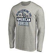 MLB Men's 2020 American League Champions Locker Room Tampa Bay Rays Long Sleeve T-Shirt