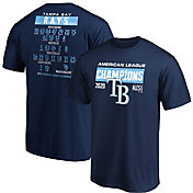 MLB Men's 2020 American League Champions Tampa Bay Rays Single Roster T-Shirt