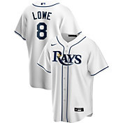 Nike Men's Replica Tampa Bay Rays Brandon Lowe #8 Cool Base White Jersey