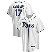 Nike Men's Replica Tampa Bay Rays Austin Meadows #17 Cool Base White Jersey