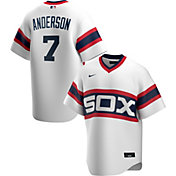 Nike Men's Chicago White Sox Tim Anderson #7 Cooperstown V-Neck Pullover Jersey