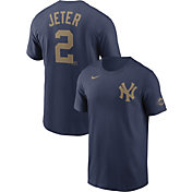 Nike Men's New York Yankees Derek Jeter #2 2020 Hall of Fame Navy T-Shirt