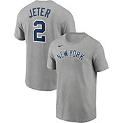 Nike Men's New York Yankees Derek Jeter #2 Gray T-Shirt