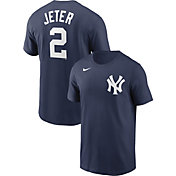 Nike Men's New York Yankees Derek Jeter #2 Navy T-Shirt