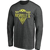 MLS Men's Nashville SC Iconic Phalanx Gray Long Sleeve Shirt