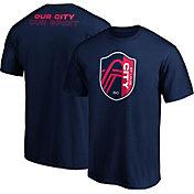 MLS Men's St. Louis City SC Wordmark Navy T-Shirt
