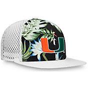 NCAA Men's Miami Hurricanes Palms Trucker Black Hat
