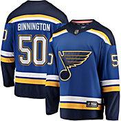NHL Men's St. Louis Blues Jordan Binnington #50 Breakaway Home Replica Jersey