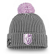 NHL Men's Vegas Golden Knights Hockey Fights Cancer Pom Knit Beanie