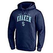 NHL Men's Seattle Kraken Faux Twill Navy Pullover Sweatshirt