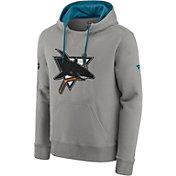 NHL Men's San Jose Sharks Special Edition Logo Grey Pullover Hoodie