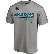 NHL Men's San Jose Sharks Special Edition Wordmark Gray T-Shirt