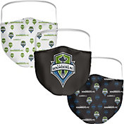 Seattle Sounders FC 3-Pack Face Coverings