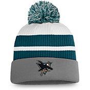 NHL Men's San Jose Sharks Grey Special Edition Knit Pom Beanie