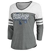MLB Women's 2020 World Series Champions Los Angeles Dodgers Laser Show Three-Quarter Raglan T-Shirt