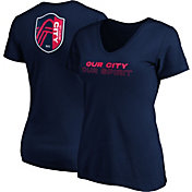 MLS Women's St. Louis City SC Wordmark Navy T-Shirt