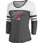 NFL Women's AFC Conference Champions Kansas City Chiefs Fair Catch Raglan Shirt