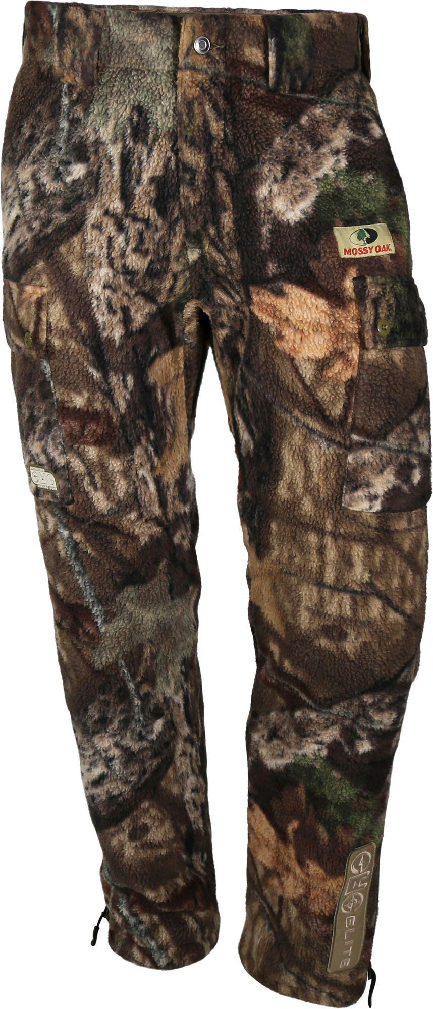 Paramount Adult EHG Elite Mossy Oak Wasatch Heavyweight Camo Sherpa Fleece Hunting Pants, Men's, Medium, Mossy Oak Break Up Country