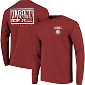 Image One Men's Alabama Crimson Tide Crimson Campus Sky Long Sleeve T-Shirt