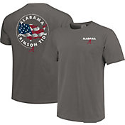 Image One Men's Alabama Crimson Tide Grey Sketch USA T-Shirt