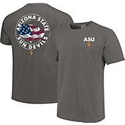 Image One Men's Arizona State Sun Devils Grey Sketch USA T-Shirt