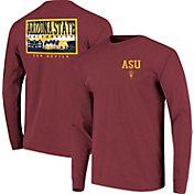 Image One Men's Arizona State Sun Devils Maroon Campus Sky Long Sleeve T-Shirt
