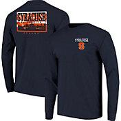 Image One Men's Syracuse Orange Blue Campus Sky Long Sleeve T-Shirt