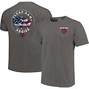 Image One Men's Texas A&M Aggies Grey Sketch USA T-Shirt
