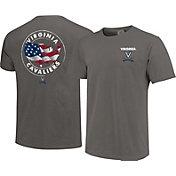 Image One Men's Virginia Cavaliers Grey Sketch USA T-Shirt